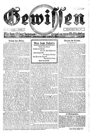 Gewissen vom 16.03.1925
