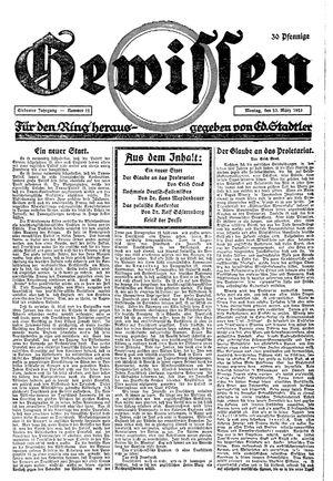 Gewissen vom 23.03.1925