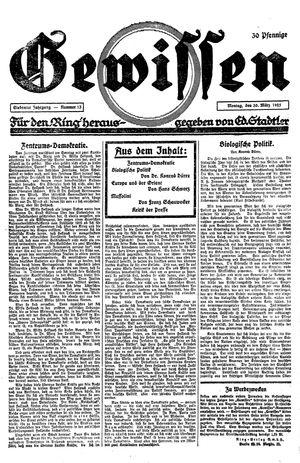 Gewissen vom 30.03.1925