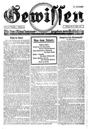 Gewissen vom 20.04.1925
