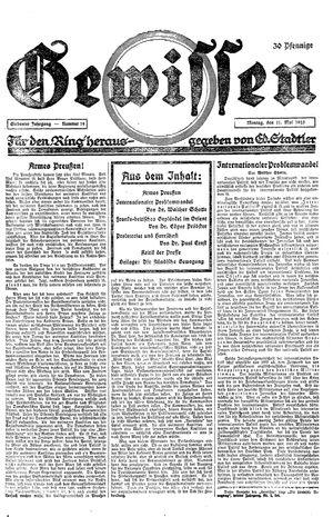Gewissen vom 11.05.1925