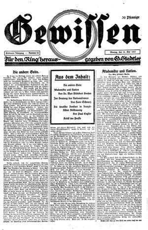 Gewissen vom 18.05.1925
