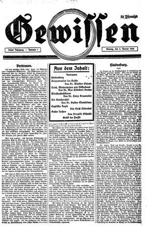 Gewissen vom 04.01.1926