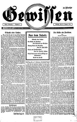 Gewissen vom 18.01.1926