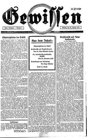 Gewissen vom 25.01.1926