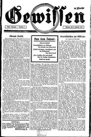 Gewissen vom 04.02.1926