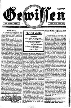 Gewissen vom 22.02.1926