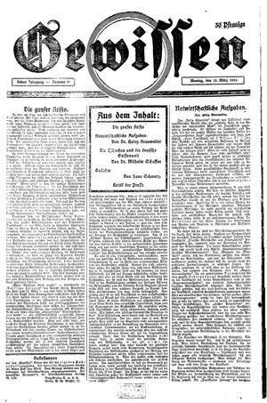 Gewissen vom 15.03.1926