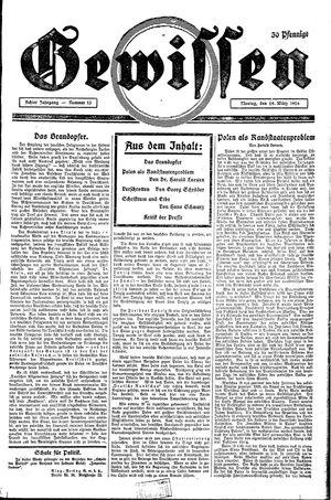 Gewissen vom 29.03.1926