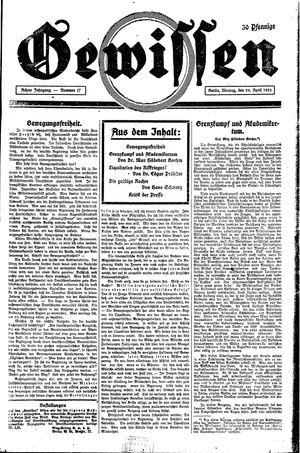 Gewissen vom 26.04.1926