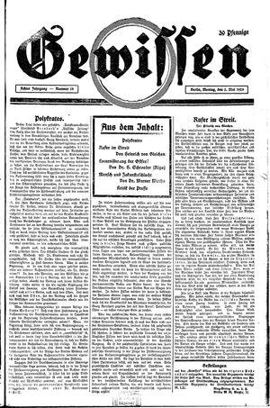 Gewissen vom 03.05.1926