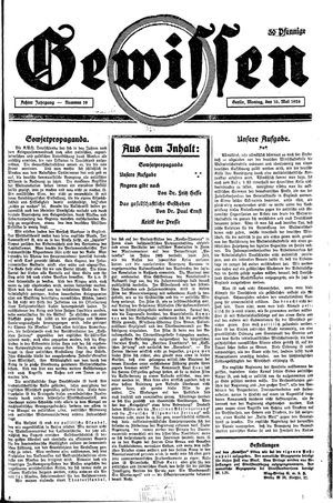 Gewissen vom 10.05.1926