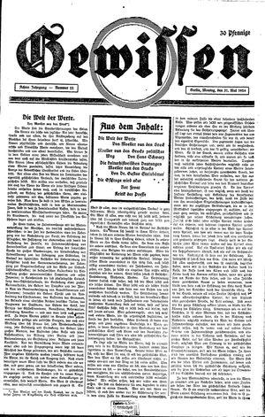 Gewissen vom 31.05.1926