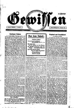 Gewissen vom 03.01.1927