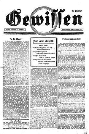 Gewissen vom 10.01.1927