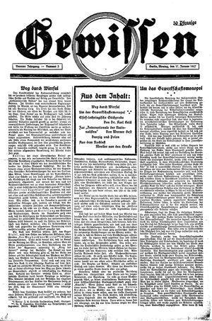 Gewissen vom 17.01.1927