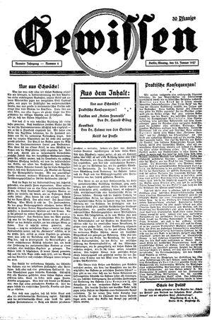Gewissen vom 24.01.1927