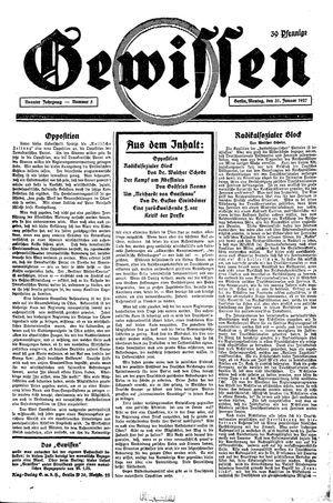 Gewissen vom 31.01.1927