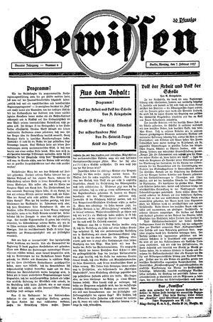 Gewissen vom 07.02.1927