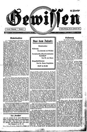 Gewissen vom 28.02.1927