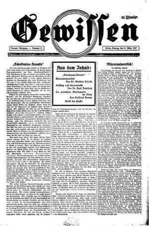 Gewissen vom 21.03.1927