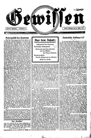 Gewissen vom 28.03.1927