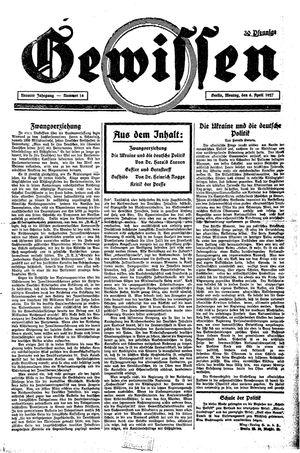 Gewissen vom 04.04.1927