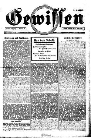 Gewissen vom 11.04.1927