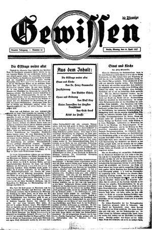 Gewissen vom 18.04.1927