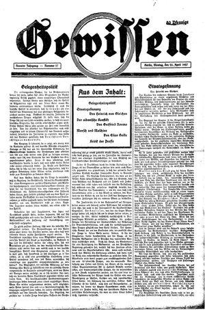 Gewissen vom 25.04.1927