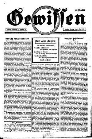 Gewissen on May 9, 1927