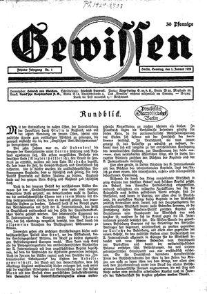Gewissen vom 01.01.1928