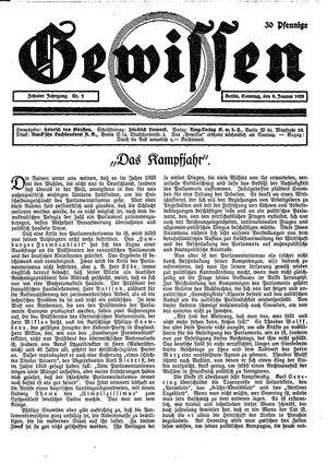 Gewissen vom 08.01.1928