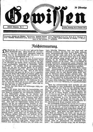 Gewissen on Jan 15, 1928