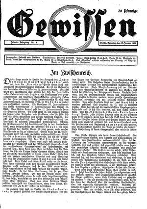 Gewissen vom 22.01.1928