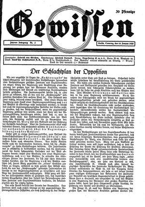 Gewissen vom 29.01.1928