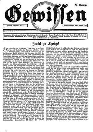 Gewissen vom 05.02.1928