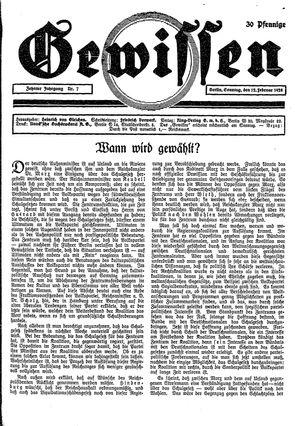 Gewissen vom 12.02.1928