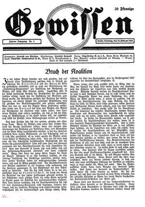 Gewissen vom 19.02.1928