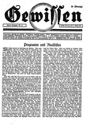 Gewissen vom 11.03.1928
