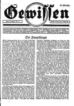 Gewissen vom 18.03.1928