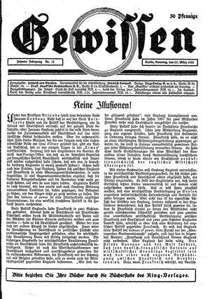 Gewissen vom 25.03.1928