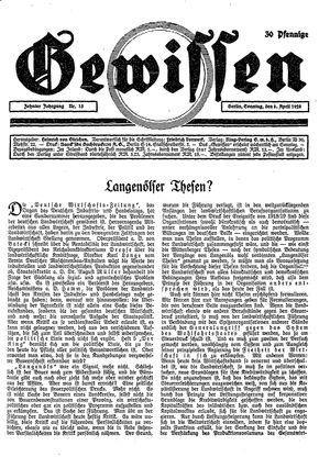 Gewissen on Apr 8, 1928