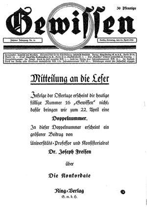 Gewissen vom 15.04.1928