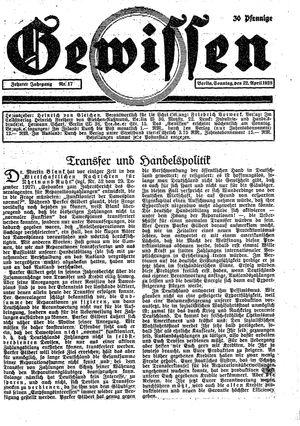 Gewissen vom 22.04.1928