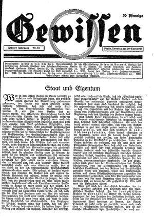 Gewissen vom 29.04.1928