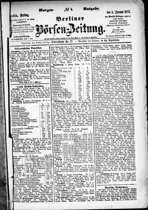 Berliner Börsen-Zeitung vom 05.01.1872