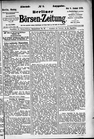 Berliner Börsen-Zeitung vom 08.01.1872