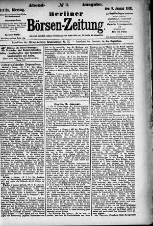 Berliner Börsen-Zeitung vom 09.01.1872