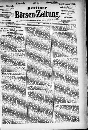 Berliner Börsen-Zeitung vom 10.01.1872